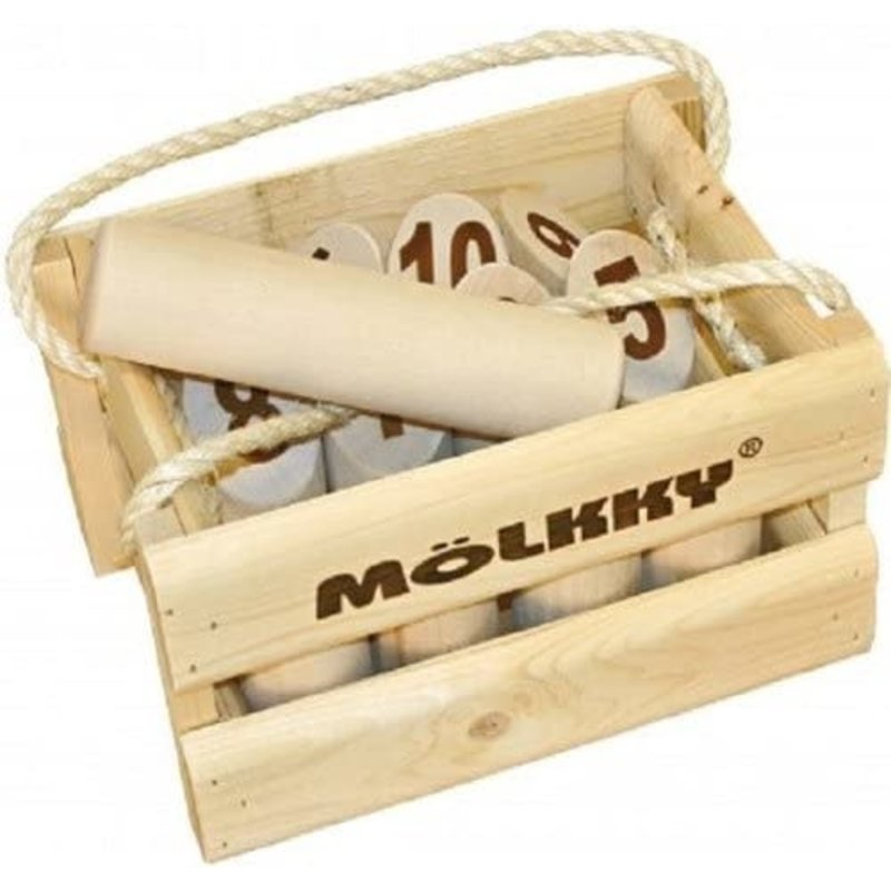 Molkky Game Wooden Crate