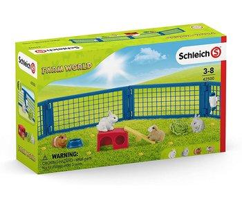 Schleich Farm World Rabbit and Guinea Pig Hutch