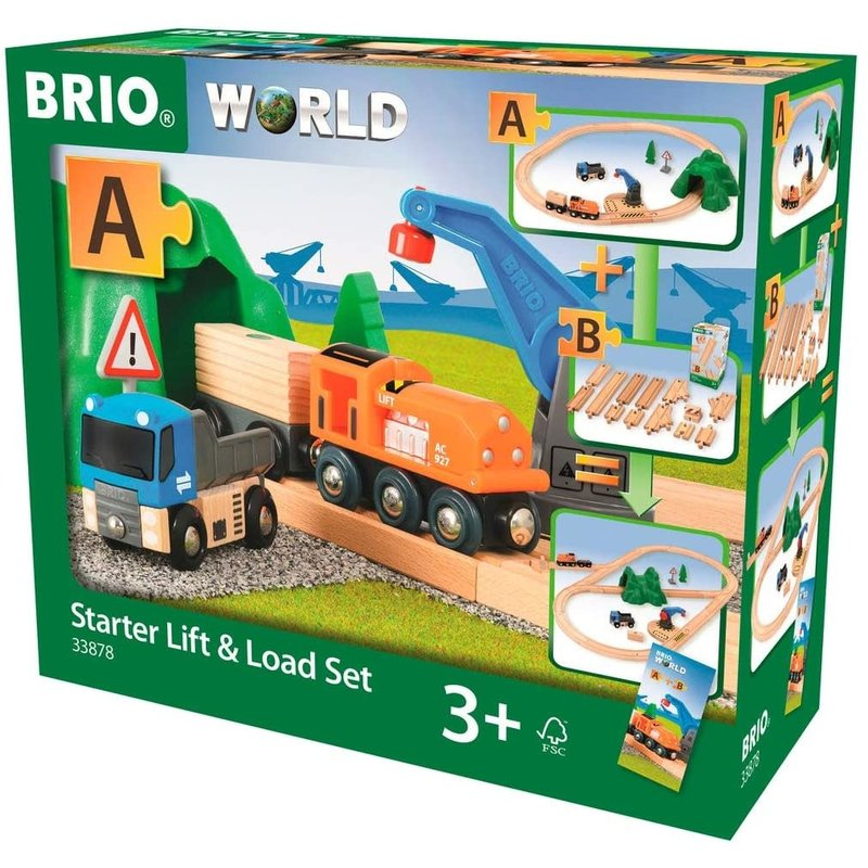Brio Brio World Railway Starter Set Lift & Load