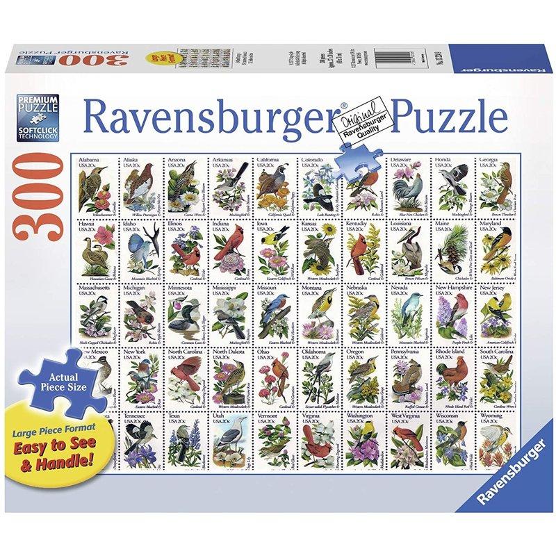 Ravensburger Ravensburger Puzzle 300pc Lrg 50 Bird Stamps