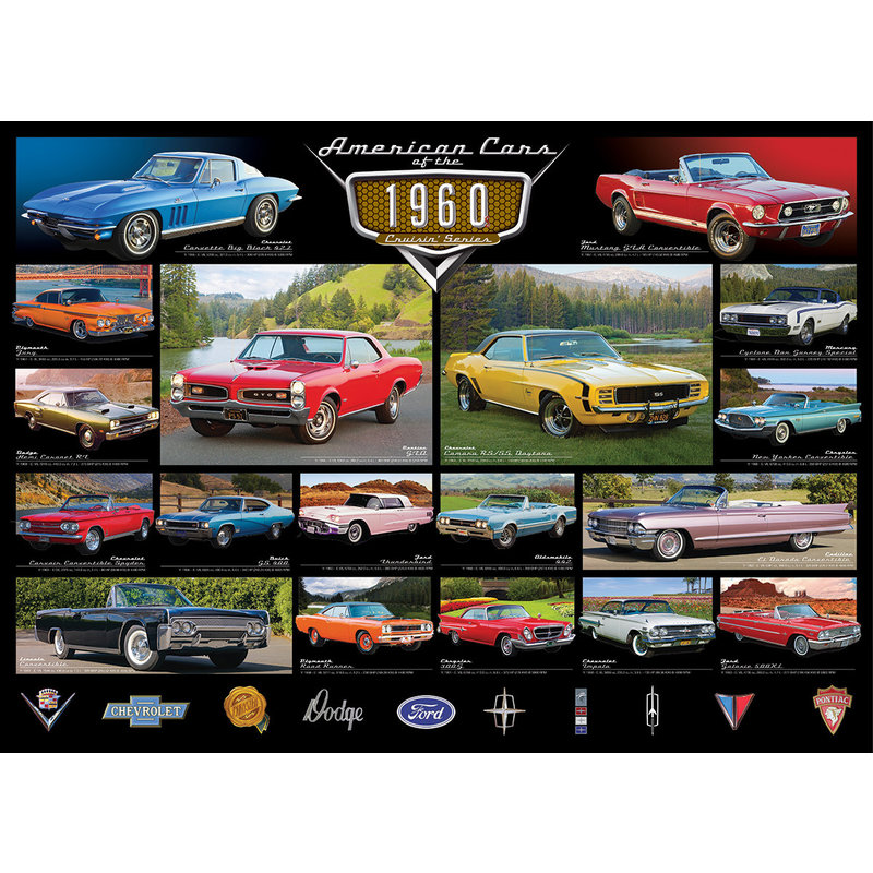 Eurographics Eurographic Puzzle 1000pc American Cars 1960`s