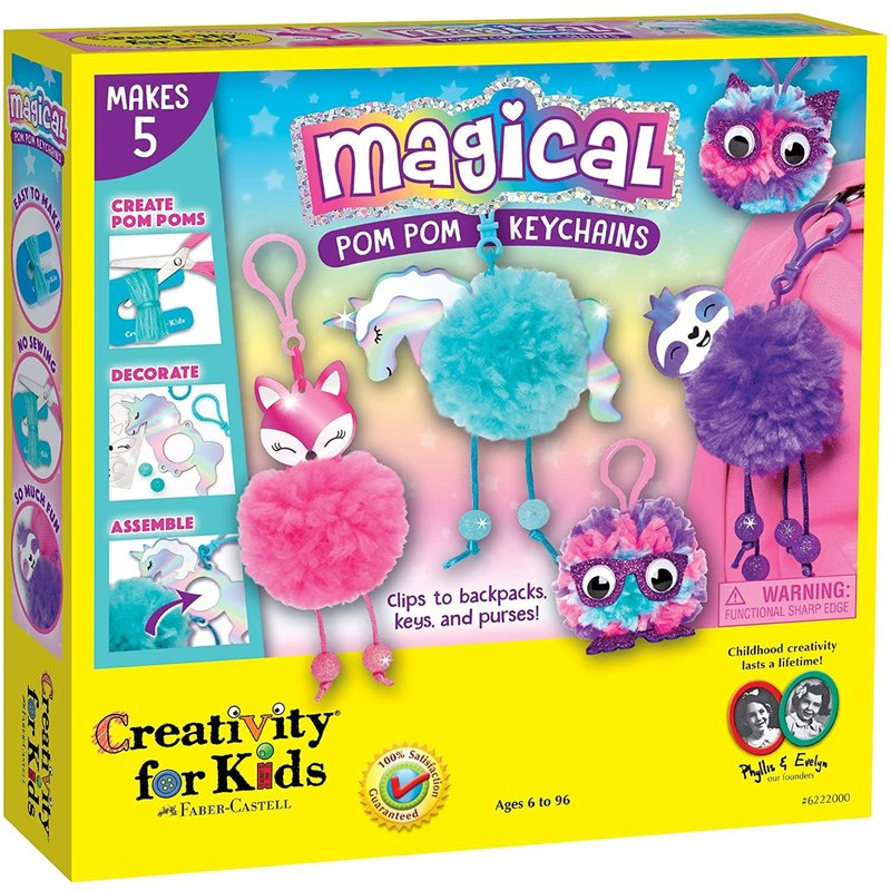 Creativity for Kids Creativity for Kids Magical Pom Pom Keychains