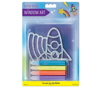Creativity For Kids Window Art Outer Space