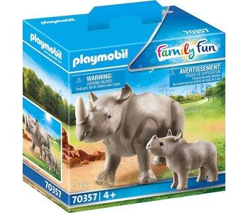 Playmobil Zoo Rhino with Calf