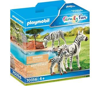 Playmobil Zoo Zebras with Foal