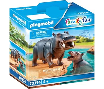 Playmobil Zoo Hippo with Calf