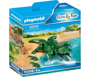 Playmobil Zoo Alligator with Babies