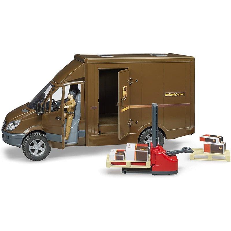 Bruder Bruder MB Sprinter UPS Truck with Driver & Forklift