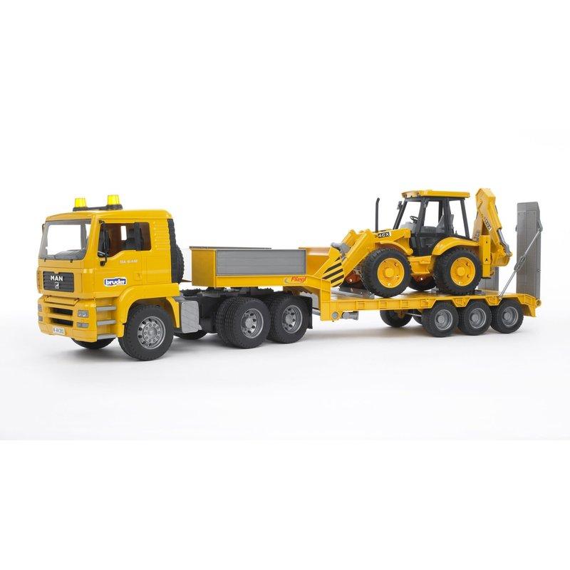 Bruder Bruder MAN Loader Truck with JCB Backhoe Loader