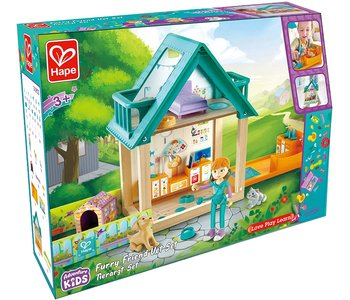 Hape Doll House Furry Friend Vet Set