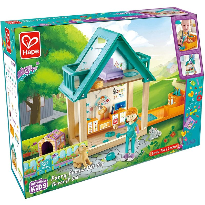 Hape Toys Hape Doll House Furry Friend Vet Set