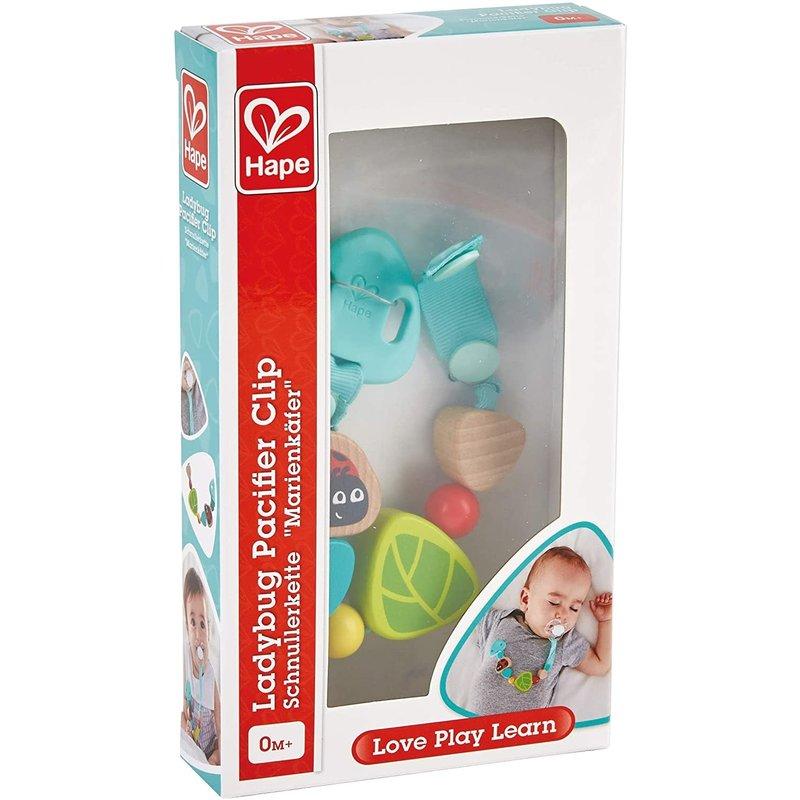 Hape Toys Hape Infant Ladybug Pacifier Clip