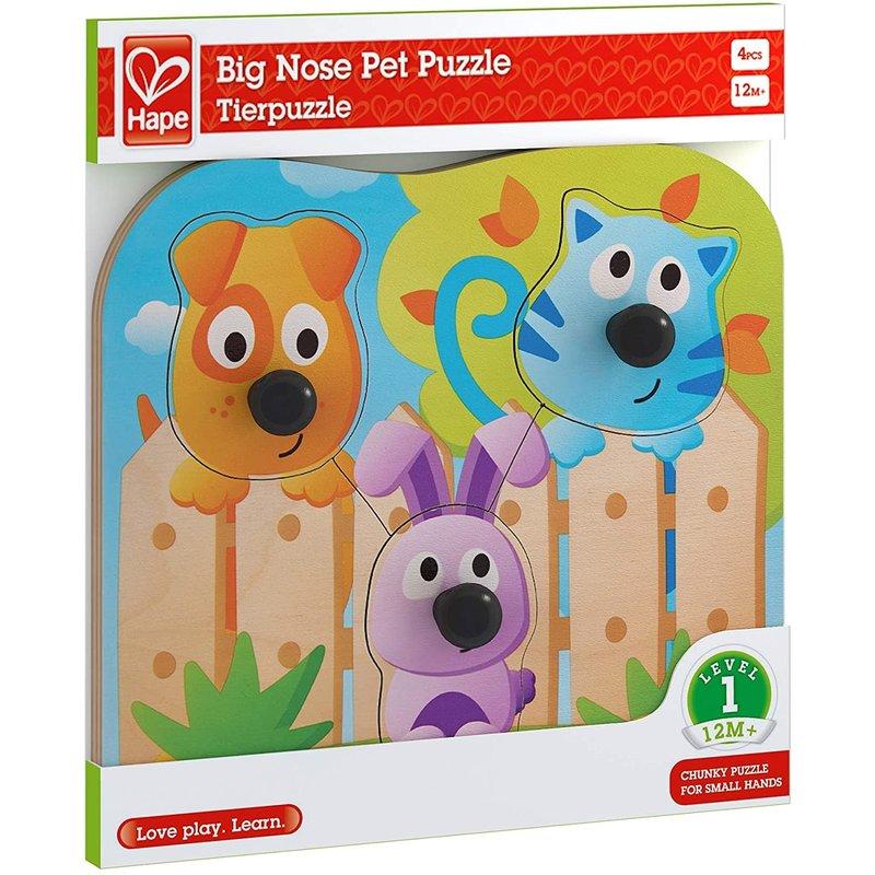 Hape Toys Hape Knob Puzzle Big Nose Pets
