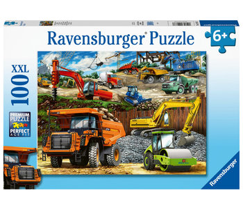 Ravensburger Puzzle 100pc Construction Vehicles