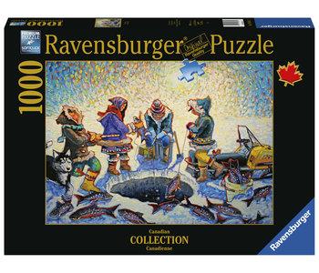 Ravensburger Puzzle 1000pc Canadian Ice Fishing