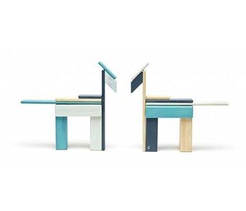 Tegu Magnetic Wooden Block 24pc Blues