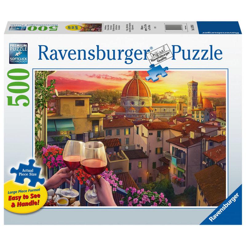 Ravensburger Ravensburger Puzzle 500pc Large Format Cozy Wine Terrace