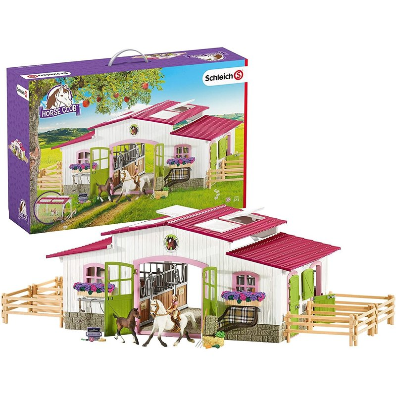 Schleich Horse Club Riding Center with Rider & Horses