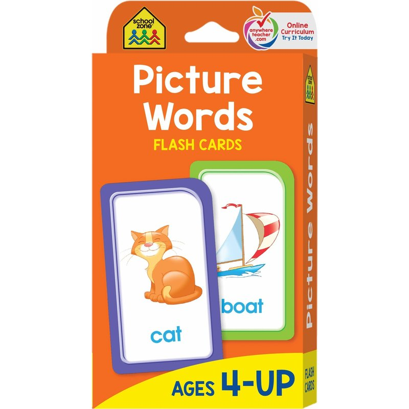 School Zone Flash Cards Picture Words