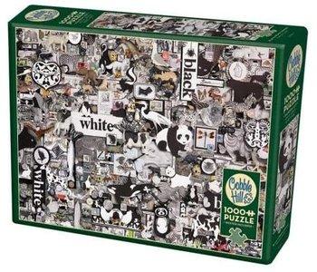 Cobble Hill  Puzzle 1000pc Black & White Animals