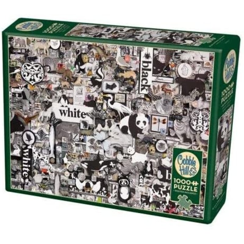 Cobble Hill Puzzles Cobble Hill  Puzzle 1000pc Black & White Animals