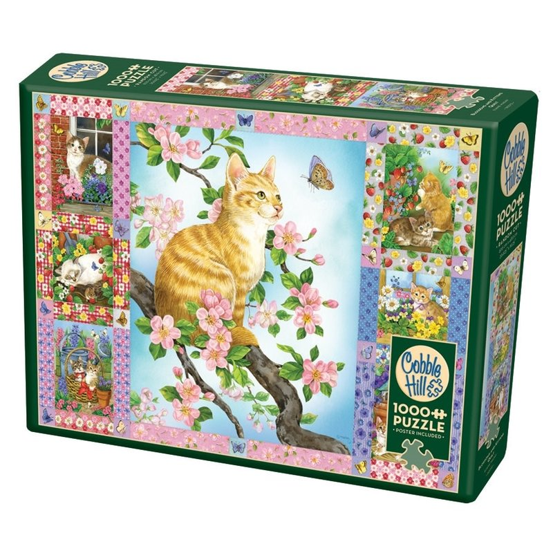 Cobble Hill Puzzles Cobble Hill Puzzle 1000pc Blossoms and Kittens Quilt