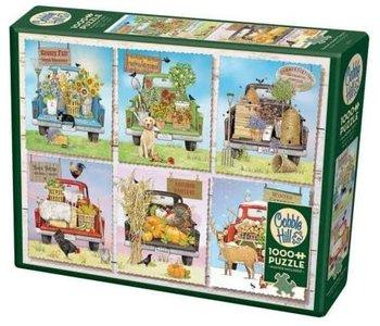 Cobble Hill Puzzle 1000pc Farmer's Market Trucks