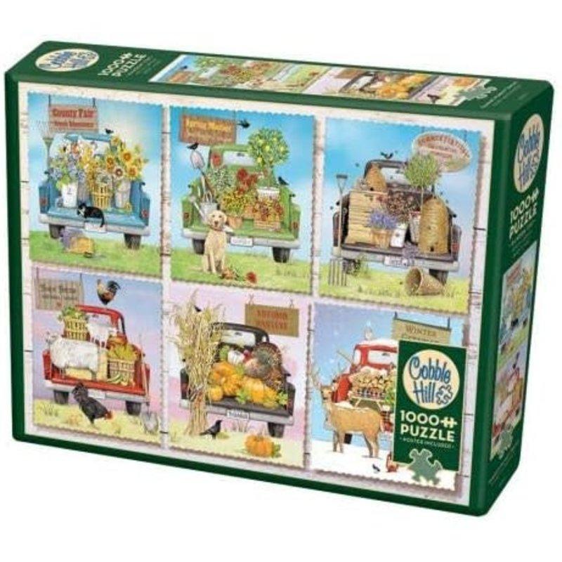 Cobble Hill Puzzles Cobble Hill Puzzle 1000pc Farmer's Market Trucks