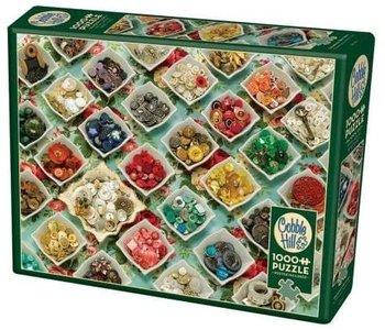 Cobble Hill Puzzle 1000pc Grandma's Buttons
