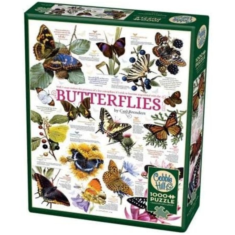 Cobble Hill Puzzles Cobble Hill Puzzle 1000pc Butterfly Collection