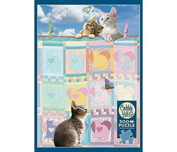 Cobble Hill Puzzle 500pc Quilted Kittens