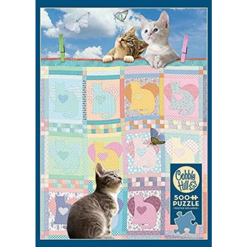 Cobble Hill Puzzles Cobble Hill Puzzle 500pc Quilted Kittens