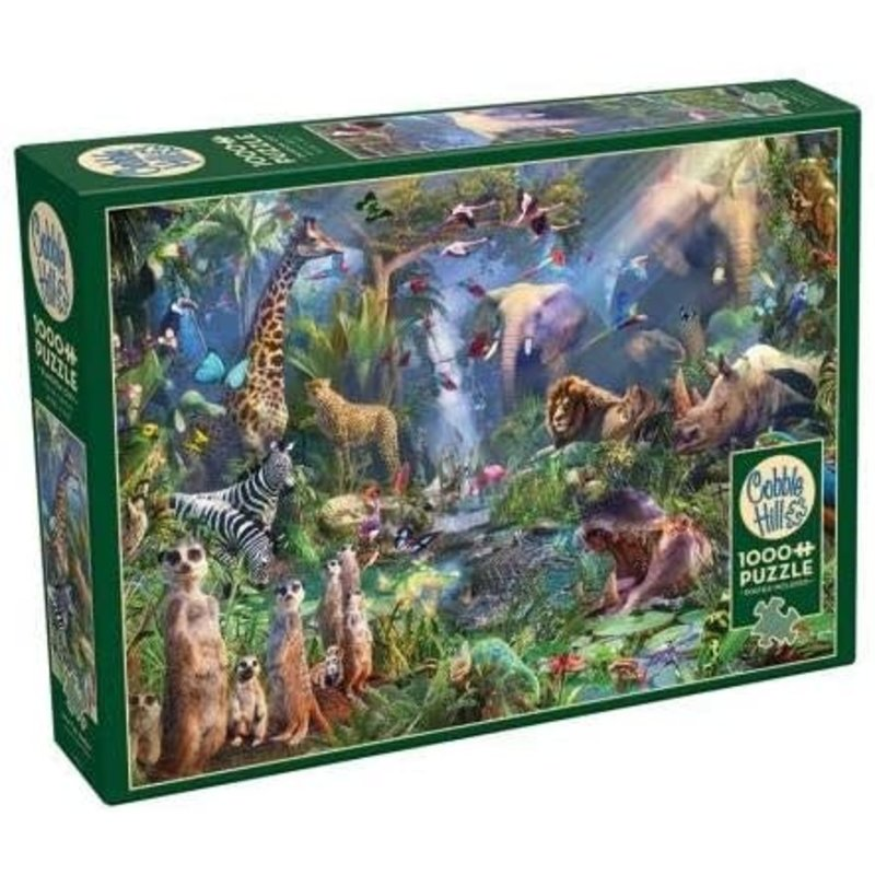 Cobble Hill Puzzles Cobble Hill Puzzle 1000pc Into the Jungle