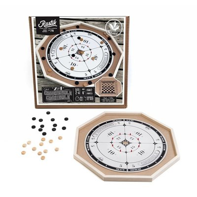 Rustik Crokinole Game Board 2 in 1