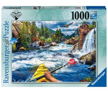 Ravensburger Puzzle 1000pc Whitewater Kayaking