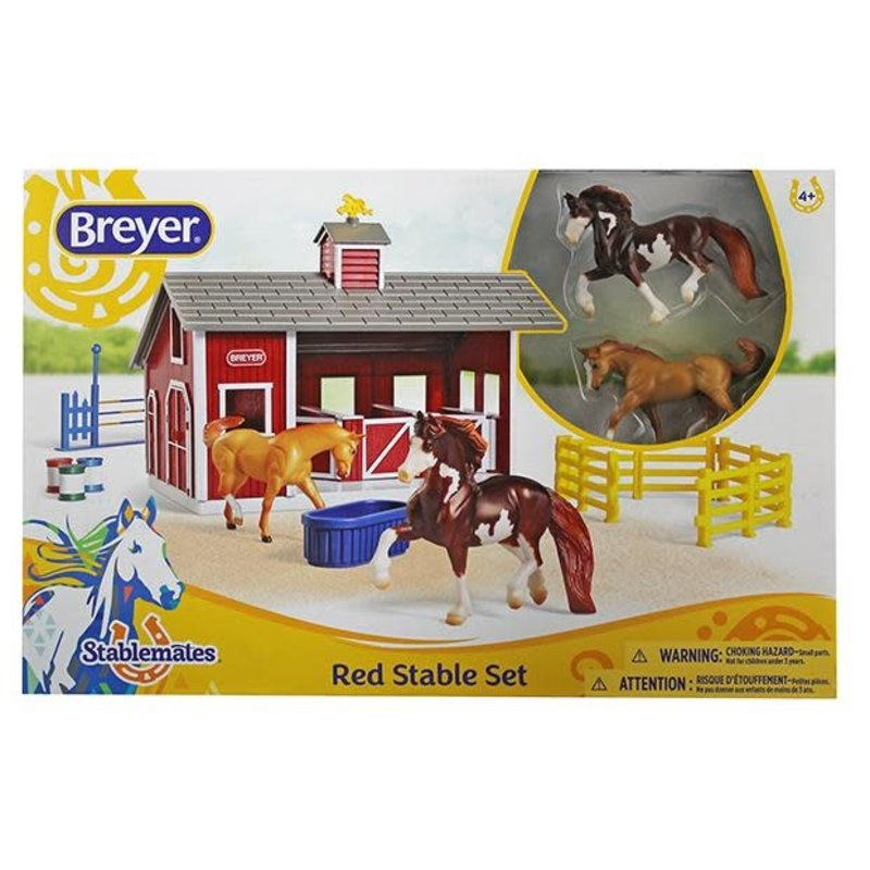 Breyer Breyer Stablemates Red Stable Set