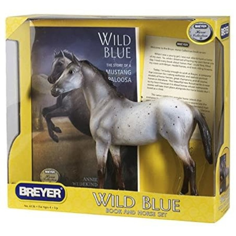 Breyer Breyer Book and Horse Set Wild Blue