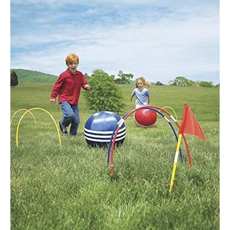 Hearth Song Inflatable Kick Croquet