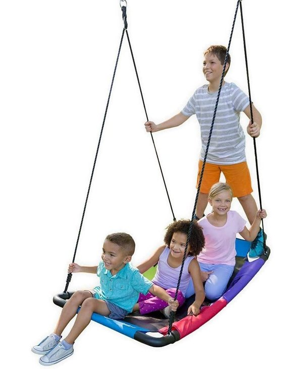 Hearth Song Colourful Super Platform Swing