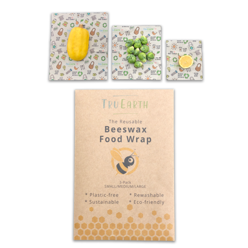 Tru Earth Beeswax Food Wraps Assorted 1S, 1M, 1L