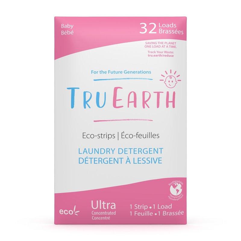 Tru Earth Laundry Detergent Eco-Strips Baby 32 Loads