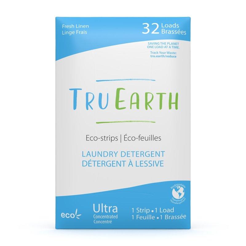 Tru Earth Laundry Detergent Eco-Strips Fresh Linen 32 Loads