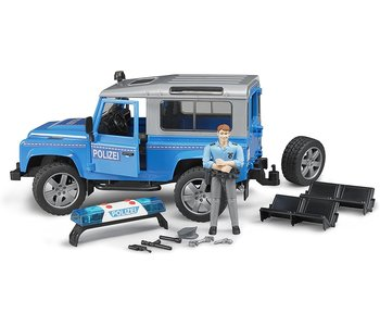 Bruder Police Land Rover with Policeman