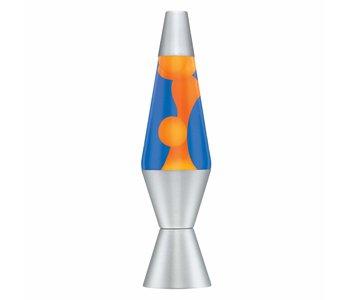 """Lava Lamp Blue Liquid Orange Lava 14.5"""""""