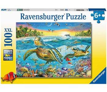 Ravensburger Puzzle 100pc Swim with Sea Turtles