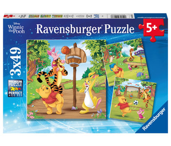 Ravensburger Puzzle 3x49pc Winnie the Pooh Sports Day