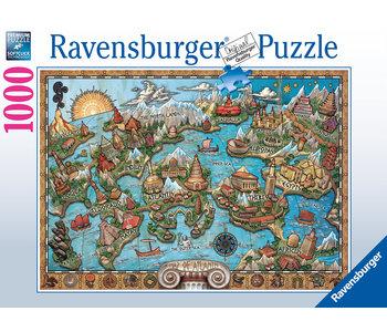 Ravensburger Puzzle 1000pc Mysterious Atlantis