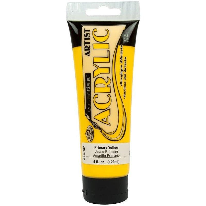 Acrylic Paint Tube Primary Yellow