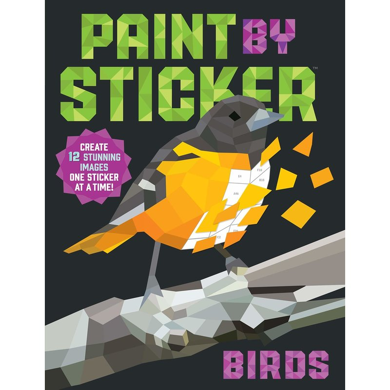 Workman Publishing Paint by Stickers: Birds