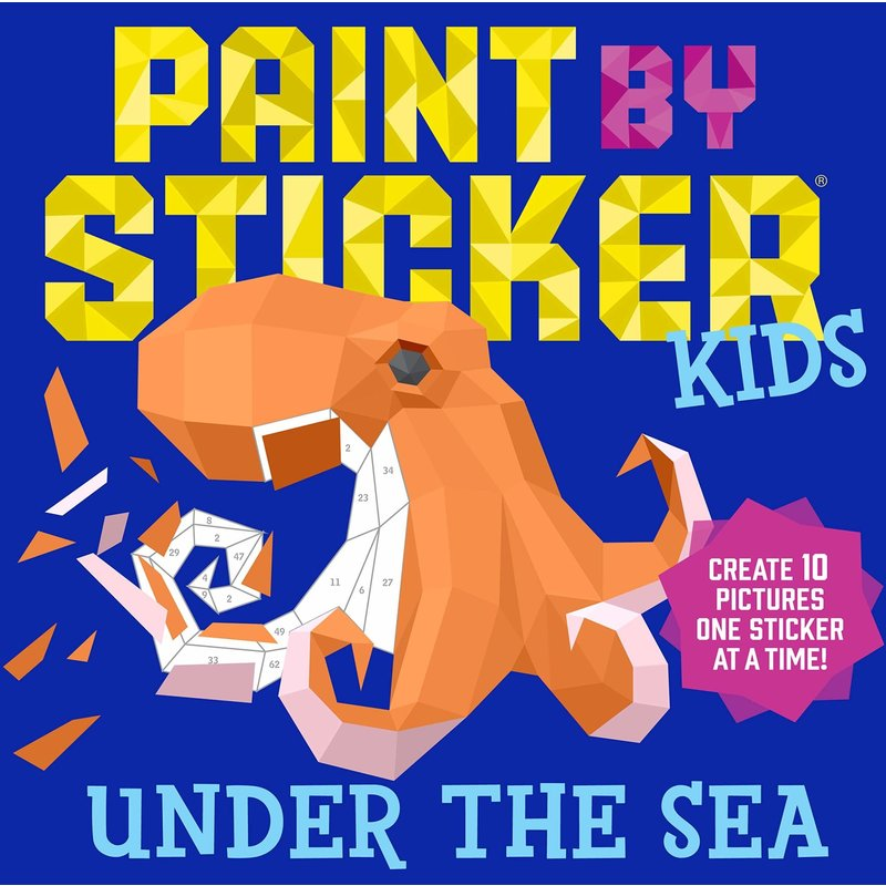 Workman Publishing Paint by Stickers Kids Under the Sea